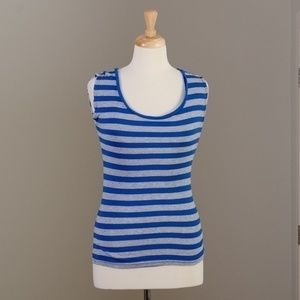 [Michael Stars] grey and blue striped tank